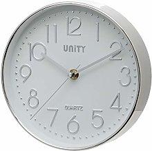 Unity UNSW940 Cambourne Wall Clock, Silver, 20 x