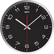 Unity Wrose Silent Sweep Wall Clock, Black