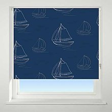 UNIVERSAL Boats Patterned Daylight Roller Blind,