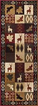 Universal Rugs Lodge Runner Accent Area Rug, 221 x