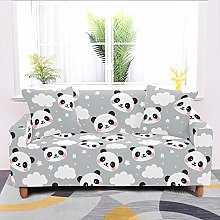 Universal Sofa Slipcover,Gray Cartoon White Cloud