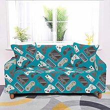 Universal Sofa Slipcover,Navy Blue Cartoon Game