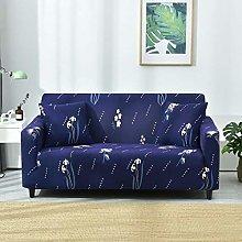 Universal Sofa Slipcover Printed Blue Daffodil