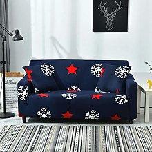Universal Sofa Slipcover Printed Blue Snowflake
