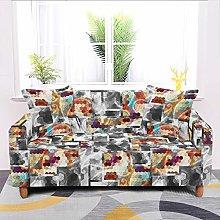 Universal Sofa Slipcover,Stretch Abstract Bohemian
