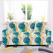 Universal Sofa Slipcover,Stretch Abstract Leaves
