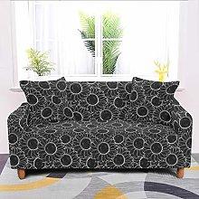 Universal Sofa Slipcover,Stretch Black Sunflower