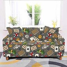 Universal Sofa Slipcover,Stretch Cartoons Modern