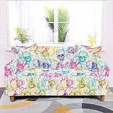 Universal Sofa Slipcover,Stretch Psychedelic Skull