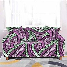 Universal Sofa Slipcover,Stretch Retro Geometry