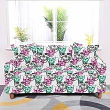 Universal Sofa Slipcover,Stretch Skull Colorful