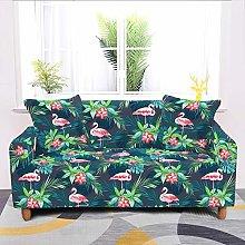 Universal Sofa Slipcover,Stretch Tropical Flamingo