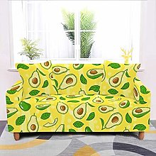 Universal Sofa Slipcover,Yellow Cartoon Avocado