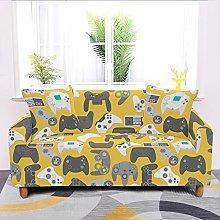 Universal Sofa Slipcover,Yellow Cartoon Game
