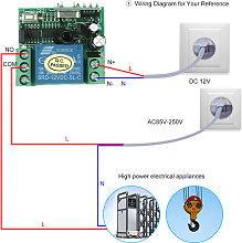 Universal Wireless Relay RF Receiver Module
