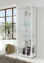Universe LED 2 Door Glass Display Cabinet- In