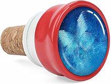 Universe Stars Blue Butterfly Wine Cork Wine