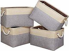 Univivi Fabric Storage Basket Set of 4,Storage