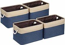 Univivi Fabric Storage Bins for Shelves,Navy