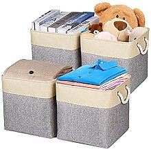Univivi Storage Basket Canvas for Laundry Clothes,