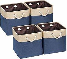 Univivi Storage Baskets Cube Set of 4,Storage