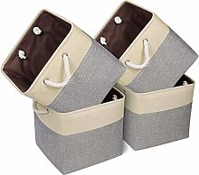 Univivi Storage Cube Basket,Storage Cubes Grey