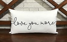 unknow Love you more Pillowcase valentine Cushion