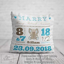 unknow NEW BABY CUSHION Personalised Baby Boy