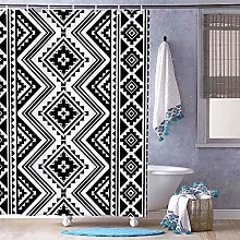 unknow Shower Curtain With Hooks,Black Font Get