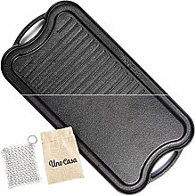Uno Casa Cast Iron Griddle Grill Pan for Stove Top