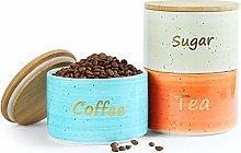 Uno Casa Ceramic Kitchen Canister Set with
