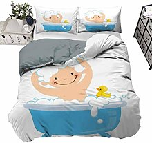 UNOSEKS LANZON Bedding Set Baby Boy with Smiley