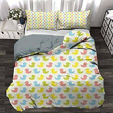 UNOSEKS LANZON Duvet Cover Colorful Ducklings Baby