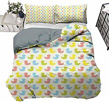 UNOSEKS LANZON Duvet Cover Set Colorful Ducklings