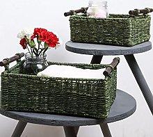 Unravel India Sabai Grass Olive Utility Basket