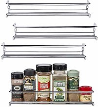 Unum Chrome Wall-Mount/Cabinet Door Spice Rack