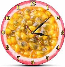 uobaysj Wall Clock Lock Of Funky Passion Fruit