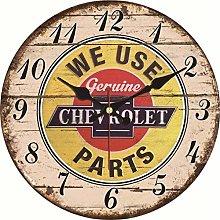 uobaysj Wall Clock Shabby Chic Cool Car Clocks