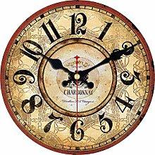 uobaysj Wall Clock Vintage Wooden Clock Roman