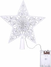 Uonlytech Christmas Tree Topper Crystal Star Tree
