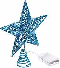 Uonlytech Christmas Tree Topper Glitter Star Tree