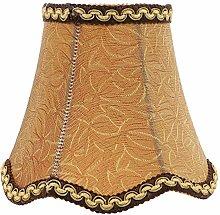 Uonlytech Retro Fabric Lamp Shade Burlap Clip On