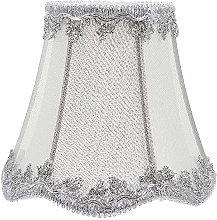 Uonlytech Silver Fabric Lampshade Hessian Clip on