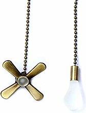 Uotyle Ceiling Fan Pull Chain Decorative Metal Fan