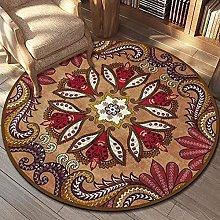 Upgrade Vintage Round Rug Indoor Floral Pattern
