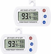 Upgraded 2Pack Digital Refrigerator Thermometer,