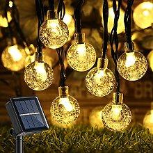 Upgraded Globe Solar String Lights, 39Ft 60 LED 8