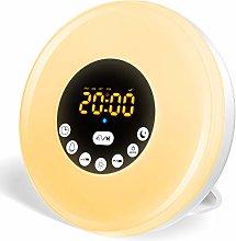 Upgraded Wake Up Light,Bedside Sunrise Alarm Clock