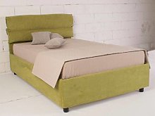 Upholstered 120 bed with fixed base Ribbony
