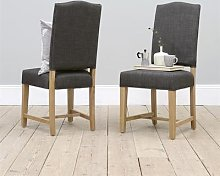 Upholstered Dining Chair - Charcoal